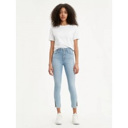 Levi's BUTTON FRONT 721 HIGH RISE ANKLE SKINNY. Color:  Shy Away With Exposed Buttons Light Wash. Style # 858860001