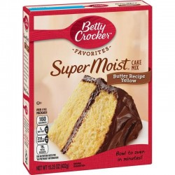 Betty Crocker - Favorites. Mezcla para torta Súper Húmeda sabor Receta de Mantequilla Amarilla