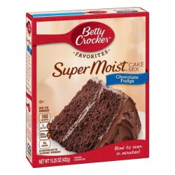 Betty Crocker - Favorites. Mezcla para torta Suoer Húmeda de Fudge de Chocolate