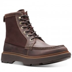 Clarks Dempsey Peak Dark Brown Leather
